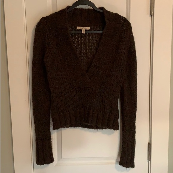 Free People Sweaters - Free People Knitted Deep V Sweater ✨